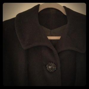 Vintage Women's Union black' long overcoat